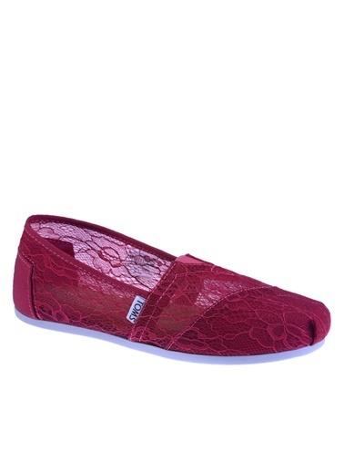 Toms Lace Wm Clsc Alprg Kırmızı